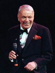 Frank Sinatra during a concert on his 75th birthday