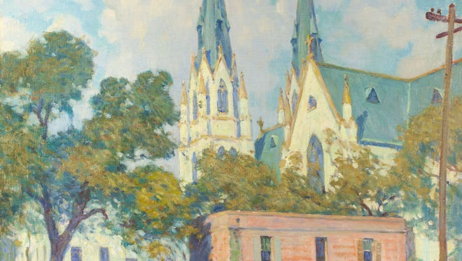 """William Chadwick's oil on canvas called """"Church Towers"""" is among the art from the Johnson Collection in Spartanburg, South Carolina, that will be shown starting May 4 at the Knoxville Museum of Art."""