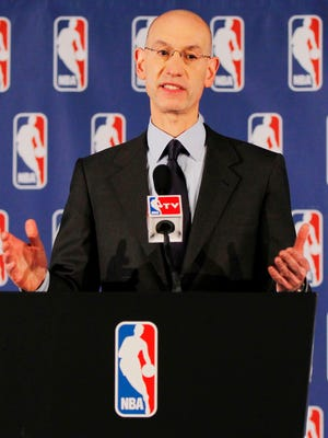 NBA Commissioner Adam Silver banned Clippers owner Donald Sterling for life Tuesday.