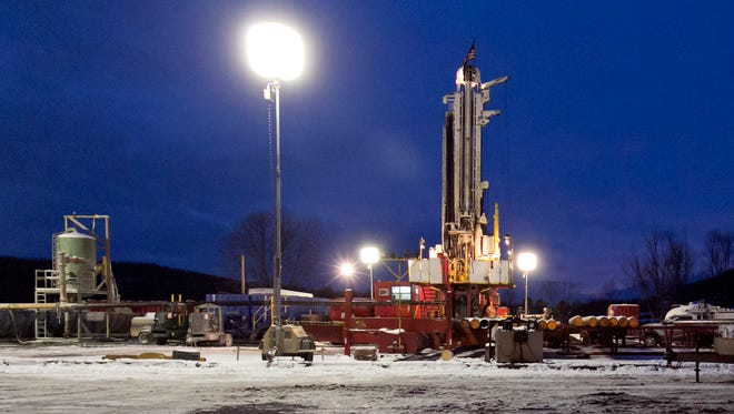 A fracking site in New Milford, Pa.