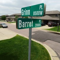 A handful of western Sioux Falls residents have fun with their street intersection. That's because they live at Grinn and Barret, where Grinn Place and Barret Place meet near 26th Street and the Tea-Ellis road.