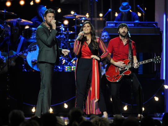 Charles Kelley, left, Hillary Scott and Dave Haywood,