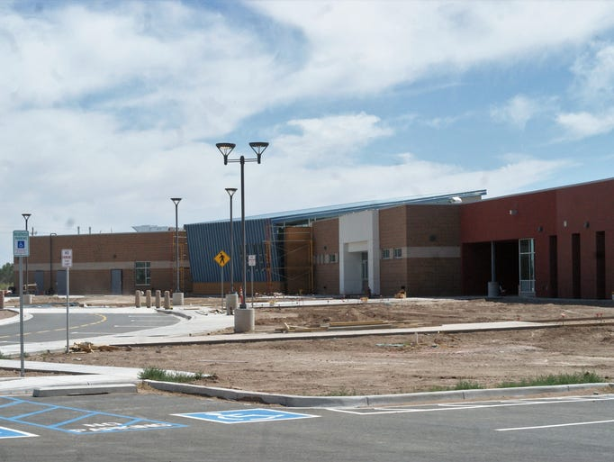 Main entrance of the new Deming Intermediate School