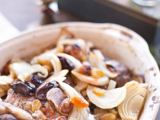 Lamb Chops in Prunes and Onions