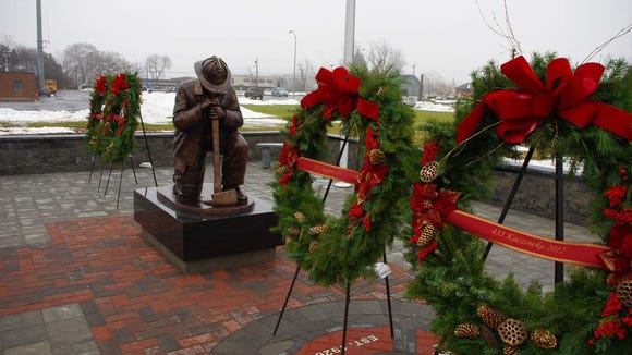 West Webster Fire Department memorial.