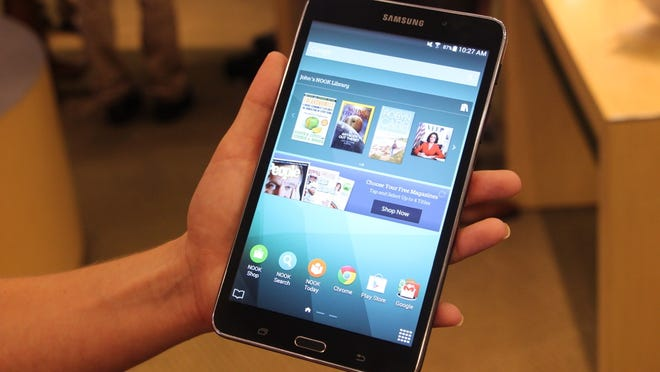 The Galaxy Tab 4 Nook, a tablet from Barnes and Noble and Samsung.