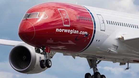 A Norwegian Air Shuttle Boeing 787