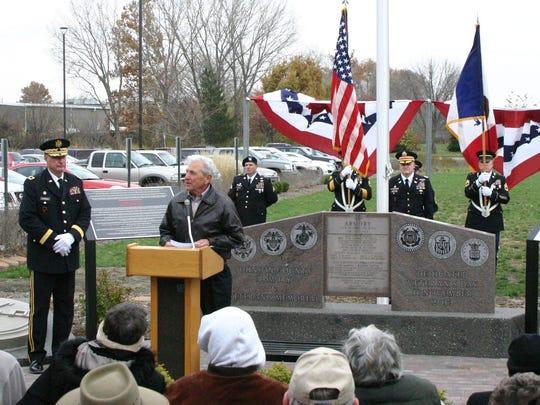Johnson County Supervisor Pat Harney speaks at the