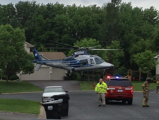 Child airlifted from Otsego