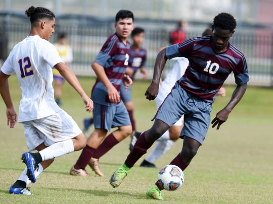 Fort Pierce Central High School hosted Fort Pierce Westwood on Wednesday, Jan. 10, 2018 for a soccer match in Fort Pierce. Westwood won the match 3-1.