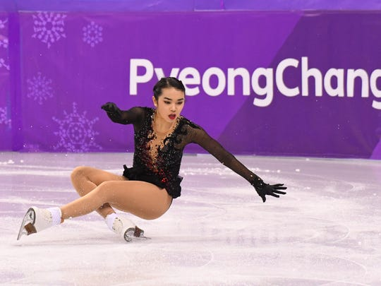 Karen Chen (USA) competes in the women's free skate