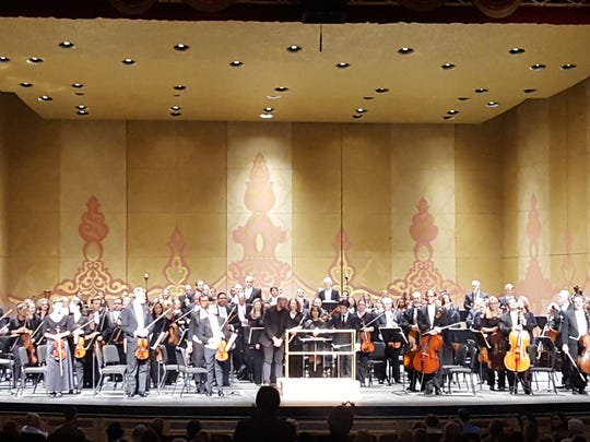 """Knoxville Symphony Orchestra performers are acknowledged by the audience during their 2017 show """"Knoxville Postcards."""""""