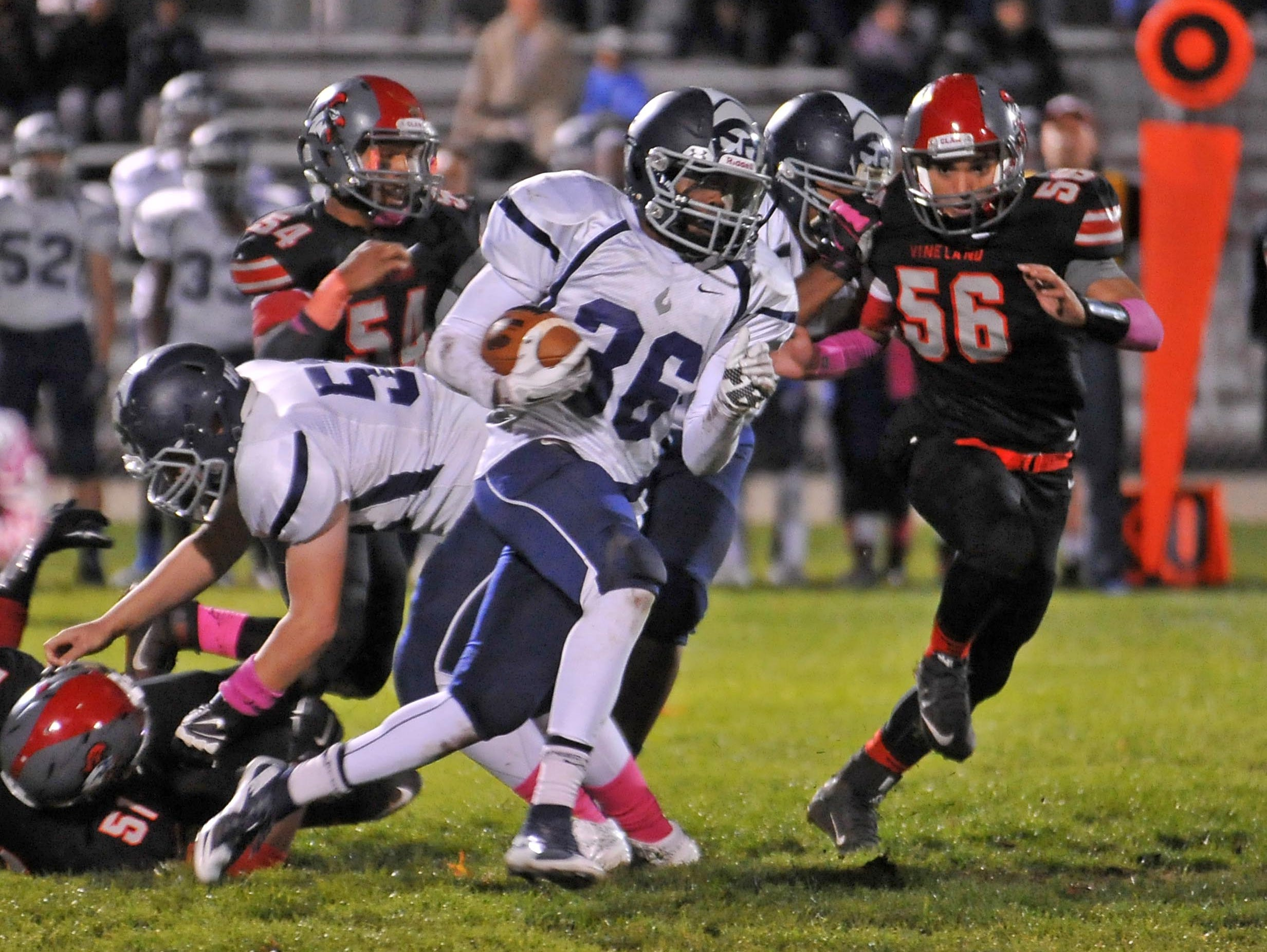 St. Augustine sophomore Kyle Dobbins has emerged as one of South Jersey's top running backs this season.