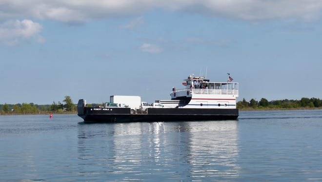 The Washington Island Ferry carries passengers and vehicles from Door County to Washington Island.