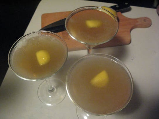 Carjack Cocktail, a play on the classic Sidecar.