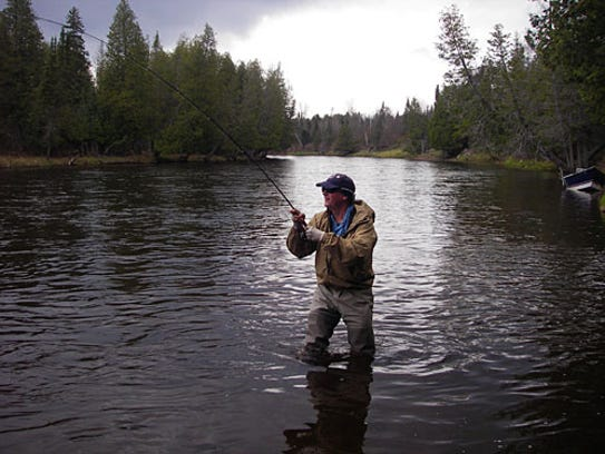 Tom Buhr flyfishing in the AuSable River