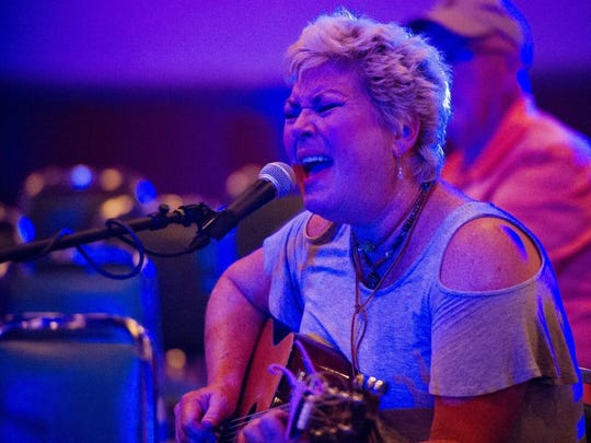 Roxie Dean, of Baton Rouge, performs during the Sandy Lee Watkins Songwriters Festival at the Moose Lodge in Henderson last year.