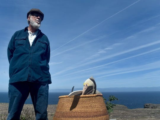 ANTHONY PLASCENCIA/THE STAR Steve Schwartz, a retired archeologist who worked for 25 years on San Nicolas Island, visited Anacapa Island to discuss facts versus fiction of the book 'Island of the Blue Dolphins' during a live video stream with students.