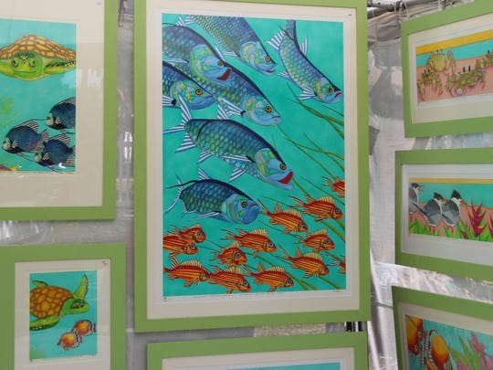 A juried fine art show will be along 14th Ave. in Vero Beach as part of the Hibiscus Festival. (PHOTO PROVIDED BY MAIN STREET VERO BEACH)