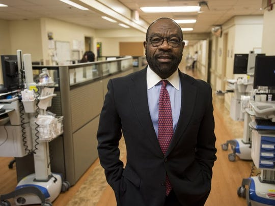 Michael Ugwueke is the chief executive and president of Methodist Le Bonheur Healthcare. (Brandon Dill/Special to The Commercial Appeal)