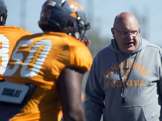 Mike DeBord was Tennessee's offensive coordinator in 2015-16. He was recently hired for the same job by the San Diego Fleet of the AAF.