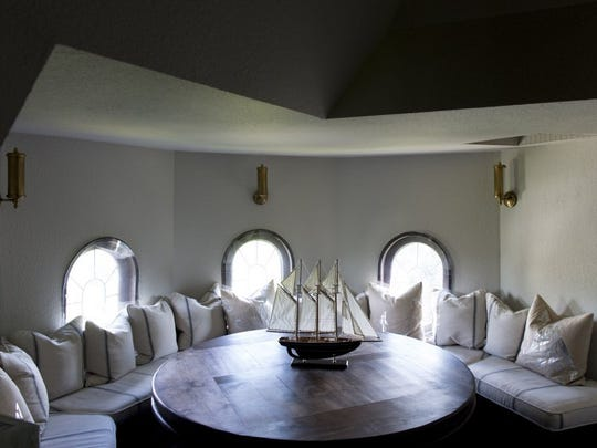 The round space in the turret on the third floor is the site of frequent poker nights. (SAUL YOUNG/NEWS SENTINEL)