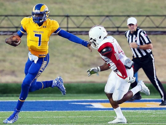 Former Angelo State quarterback Kyle Washington threw for 9,485 yards and rushed for 2,922 yards during a standout career with the Rams. He's in his first year as the offensive quality control coach with McNeese State University in Lake Jackson, Louisiana.