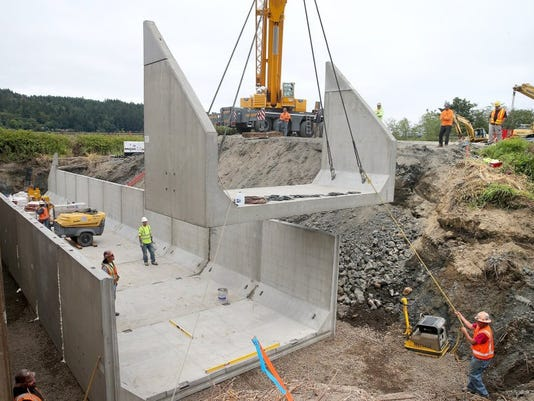 First Anderson Creek culvert takes shape