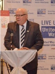 Frank Caragher, executive director of the Arc of Union, recipient of the Dell Raudelunas Spirit of Caring award.