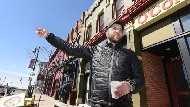 Amid buzz over Ford's plans, artist Joel Grothaus is worrying he'll get priced out of Corktown.