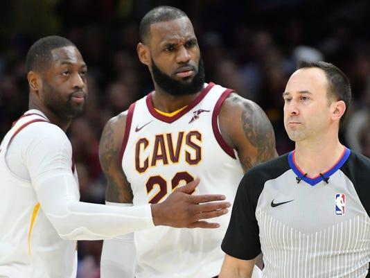 USP NBA: MIAMI HEAT AT CLEVELAND CAVALIERS S BKN CLE MIA USA OH
