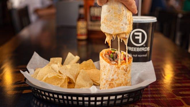 Freebirds World Burrito Quesarita combines the best of a burrito and quesadilla into one dish.