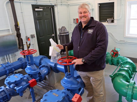 Portrait of Jay Guyer, water supervisor for Municipal Commission City of New Castle, at the School Lane Water Treatment facility. Starting in March a 6-month monitoring for lead in water will be tested from 40 resident homes.