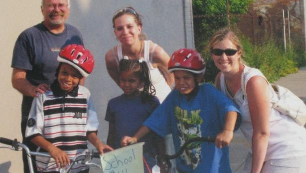 These kids wouldn't have a bike if generous people hadn't donated them.