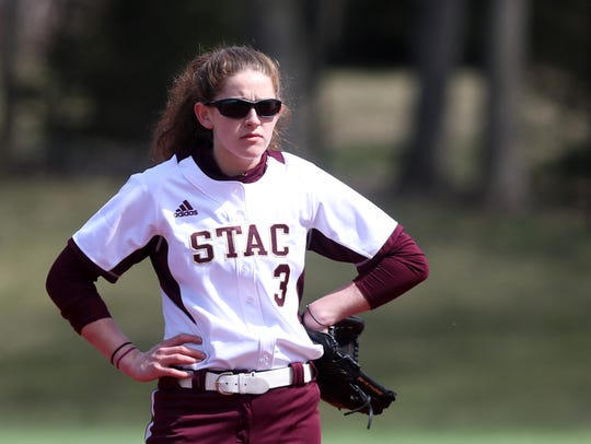 St. Thomas Aquinas'  Missy Sadler in centerfield during