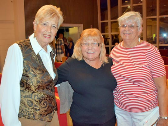 Marguerite Langley, Carole Costello and Jerrie Nickerson