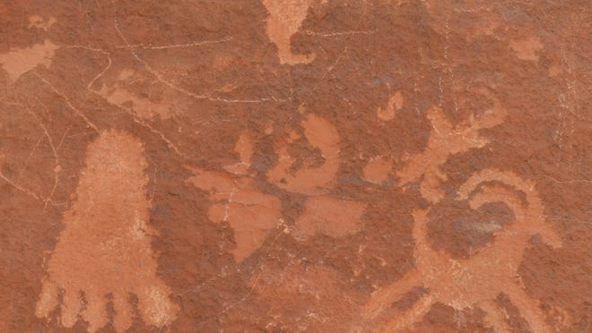 3,000-year-old petroglyphs at Valley of Fire State Park, as seen on TV, even by people who are standing right there.