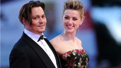 Johnny Depp and Amber Heard in September 2015 in Venice.