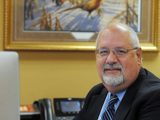 Harrisburg Superintendent Jim Holbeck was named the Superintendent of the Year.