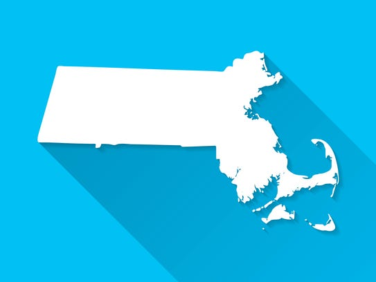 Map of Massachusetts.
