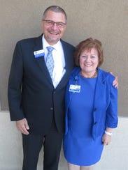 Michael Doncheski and Angela Austin were recognized