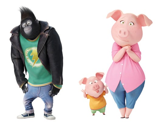 The gorilla Johnny (voiced by Taron Egerton) prefers