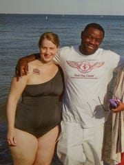 Antonio Smith and Kim Stelow are pictured at Milwaukee's lakefront in July 2015, five months after he was released from prison. The picture was introduced at Smith's homicide trial.