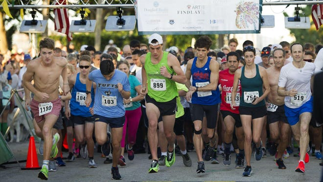 More than 1,000 competitors participated in the Town of Palm Beach United Way's Turkey Trot 5K on Nov. 28 at Bradley Park.