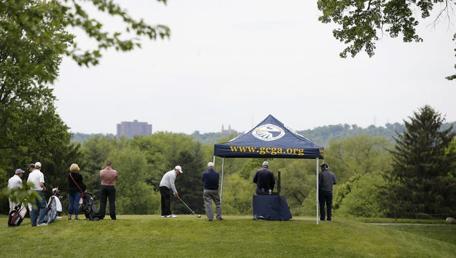 More than 180 players competed for 14 spots at Maketewah Country Club during the U.S. Open Local Qualifier Monday, May 16, 2016. The top players who advance will go on to the next round of qualifying in the first week of June to try for a shot to get in the U.S. Open.