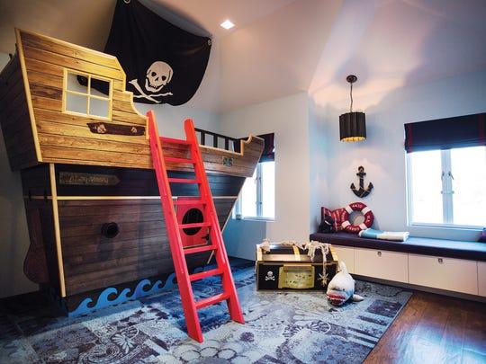 Boy's sea-inspired room designed by Edgewater interior designer Vanessa Deleon.