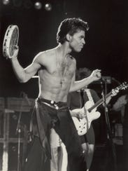 Prince performs at Cobo Arena June 7, 1986.