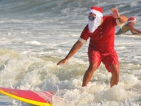 Christmas In July: Surfing Santas