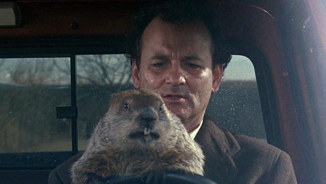 "Bill Murray stars in the 1993 comedy ""Groundhog Day"""