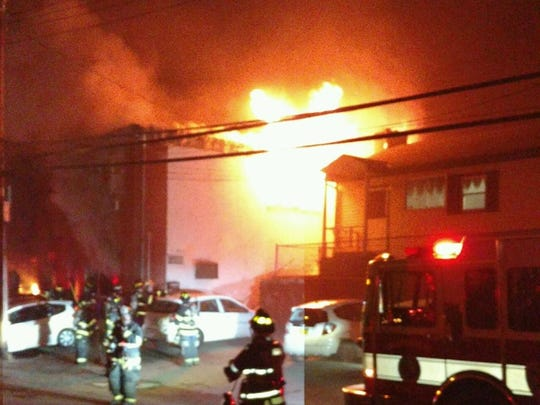 A fire broke out in a commercial building on Legion
